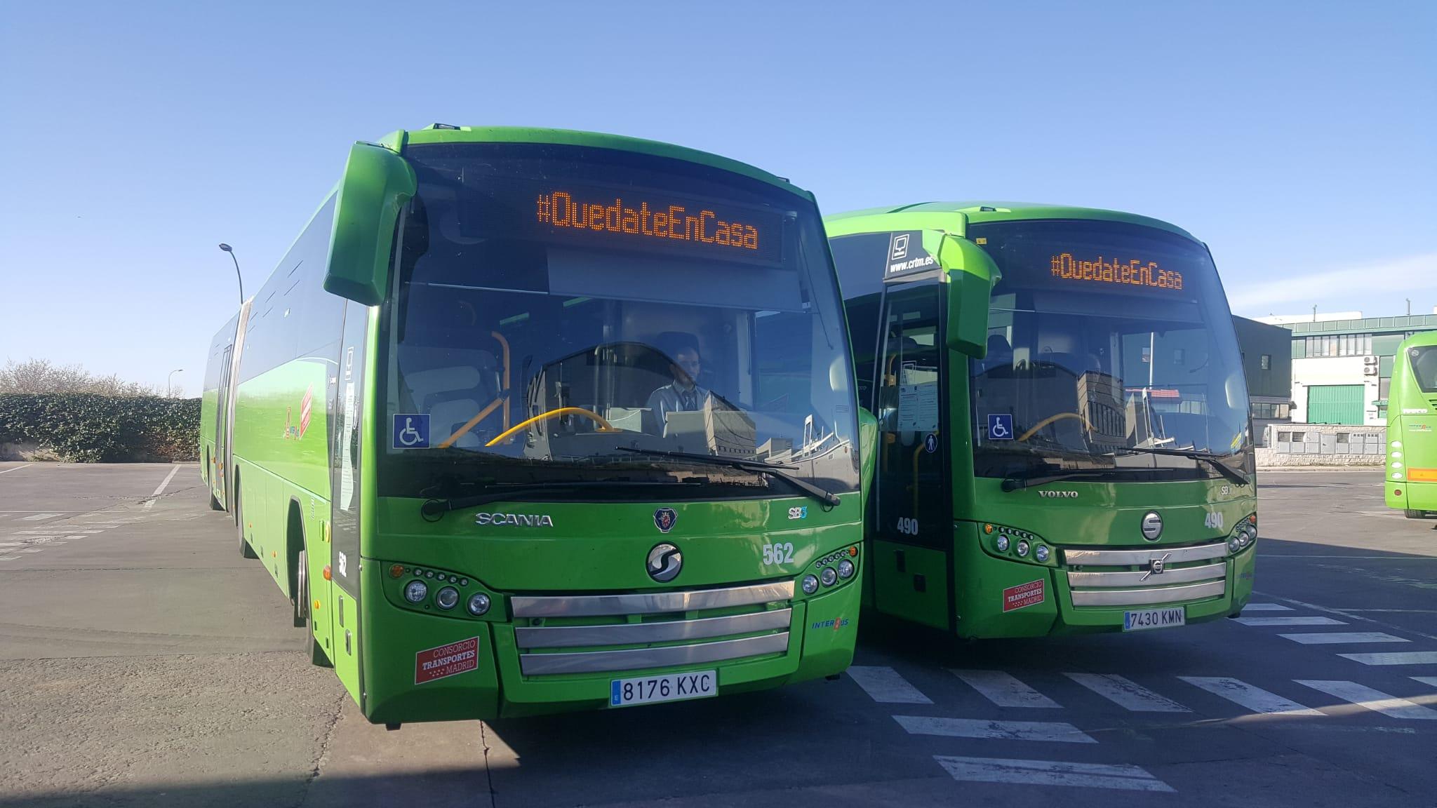 INTERBUS, a través de sus Rótulos Electrónicos embarcados en toda su Flota de Autobuses se suma al Movimiento #QuedateEnCasa
