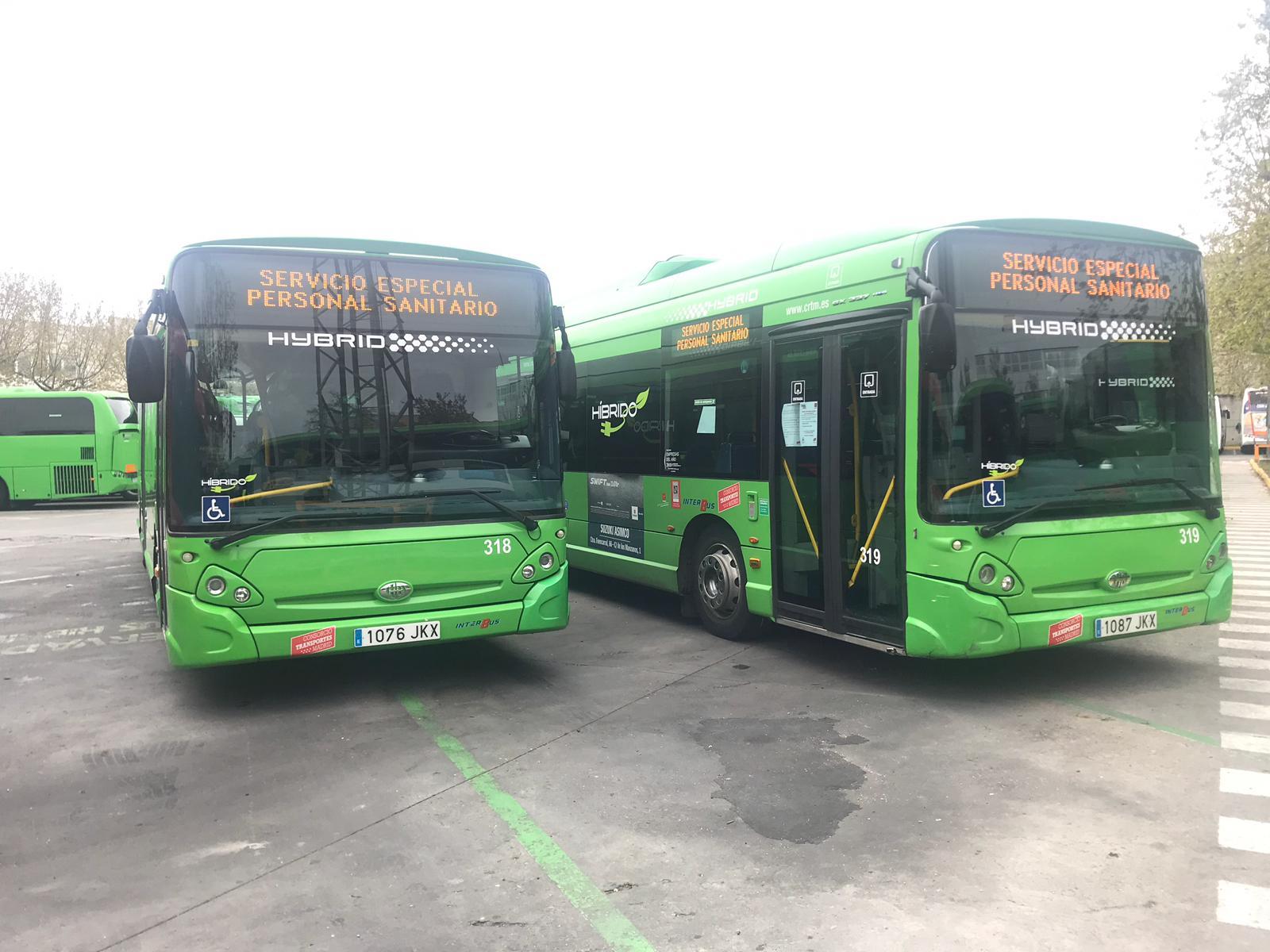 Autobuses de transporte de personal sanitario